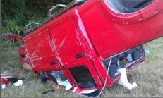 red truck semi wreck