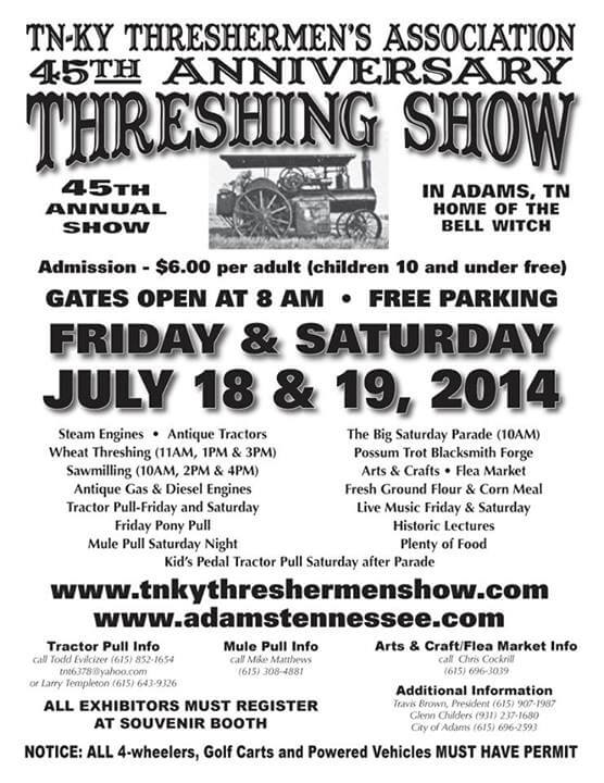 Threshing show 2014 flyer july 18 19