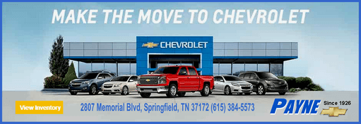 Payne chevrolet make the move ad 511