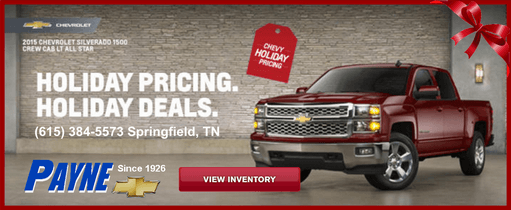 Payne holiday pricing 511