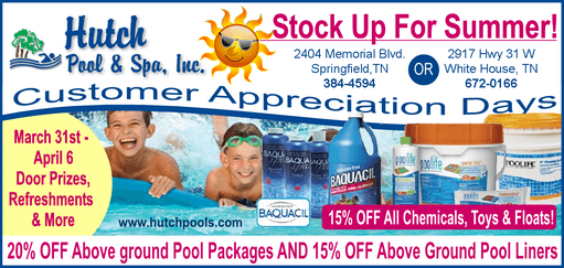 pool appreciation sale ad