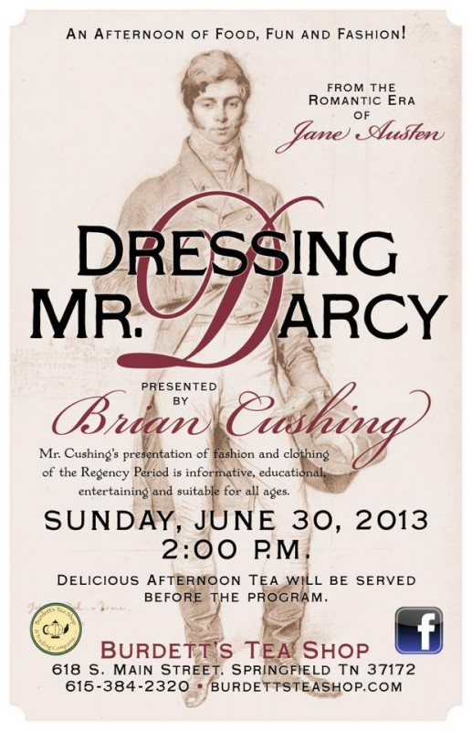 Dressing Mr Darcy flyer