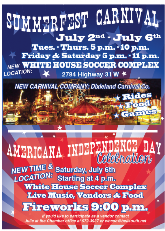 White House July 4 flyer