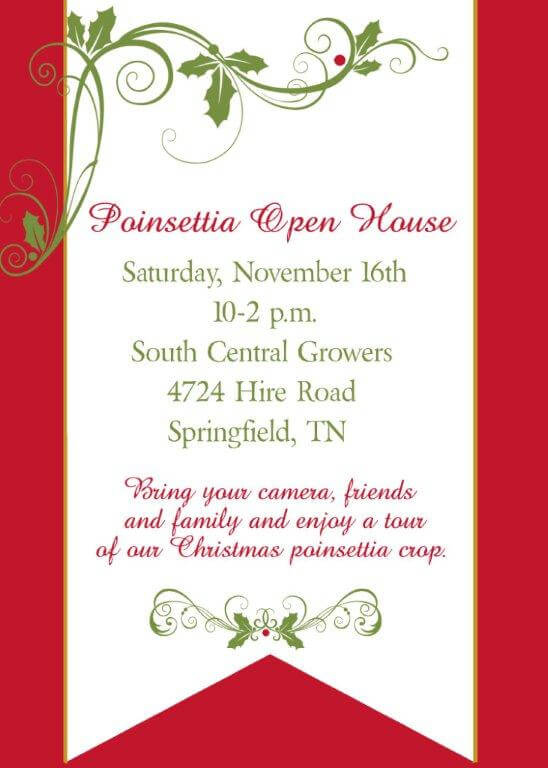 SCG Poinsettia open house
