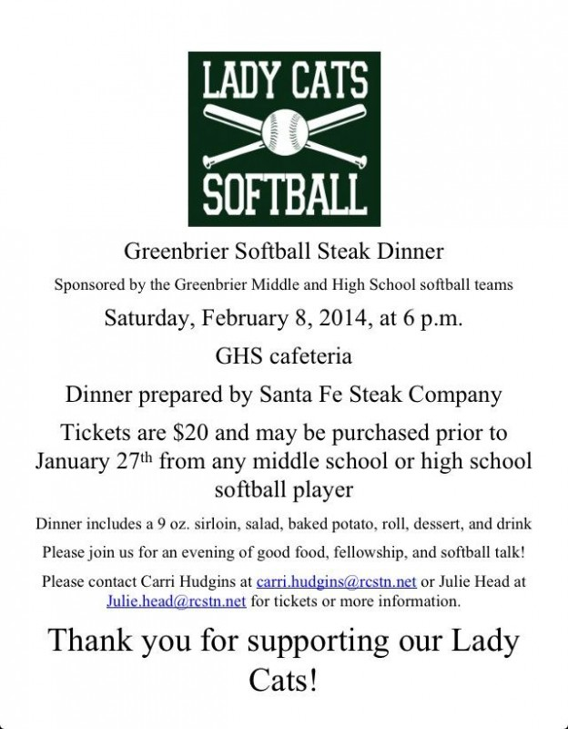 Greenbrier steak dinner flyer