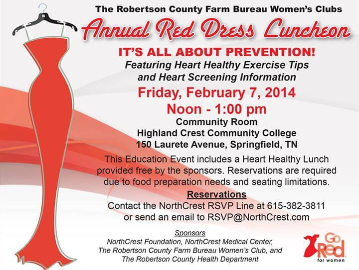 Red Dress Luncheon flyer