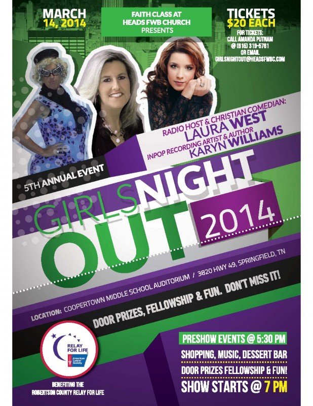 Girls night out 2014 flyer