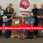 over 10,000 books donated to RC slider Feb 2014