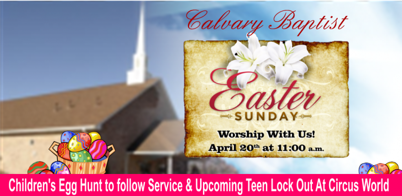 Calvary easter and teen lock out slider