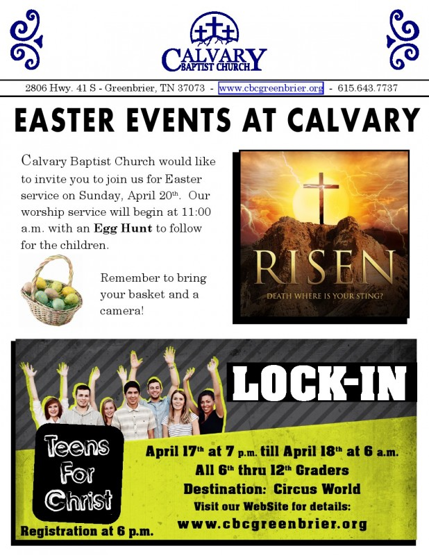 Easter Calvary flyer 1