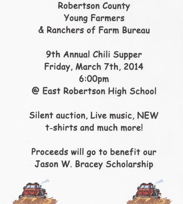 farmers chili supper flyer