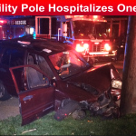 SUV Vs Utility Pole Hospitalizes One slider