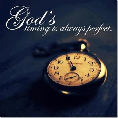 Gods timing