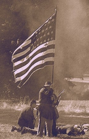 civil war photo sepia