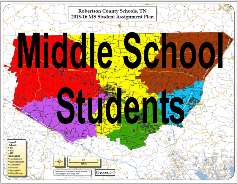 Middle school map