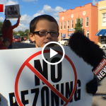 rally against rezoning slider a