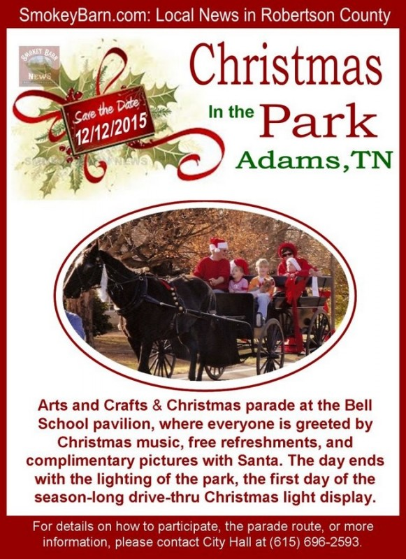 Adams Christmas parade flyer 2015 SBN 12 12