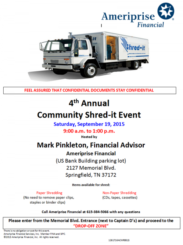Ameriprise shred 2015