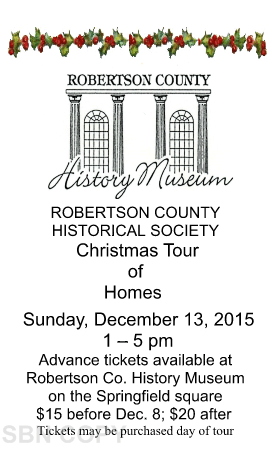 Christmas tour of homes 2015