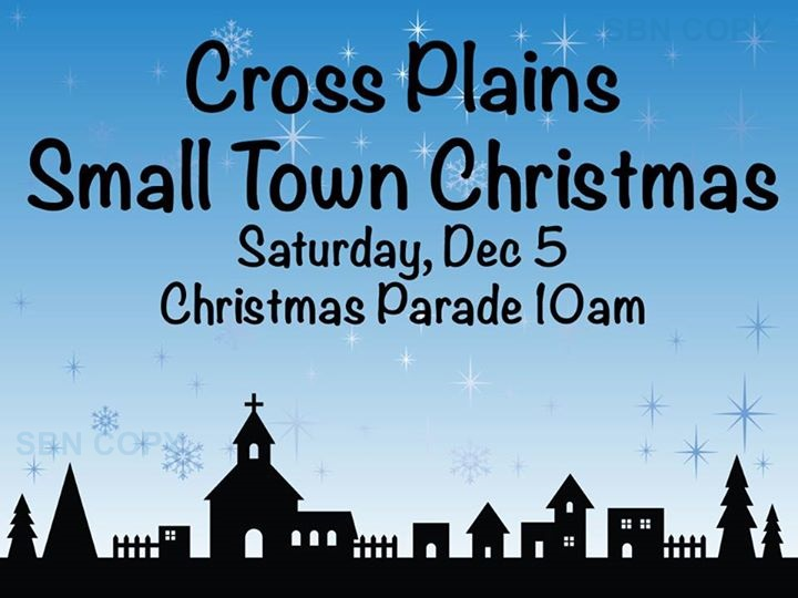 Cross Plains Christmas Parade 2015 flyer