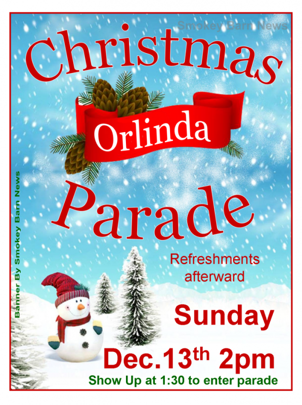 Orlinda Christmas parade 2015 flyer