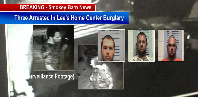 three arrested in Lee's burglary slider